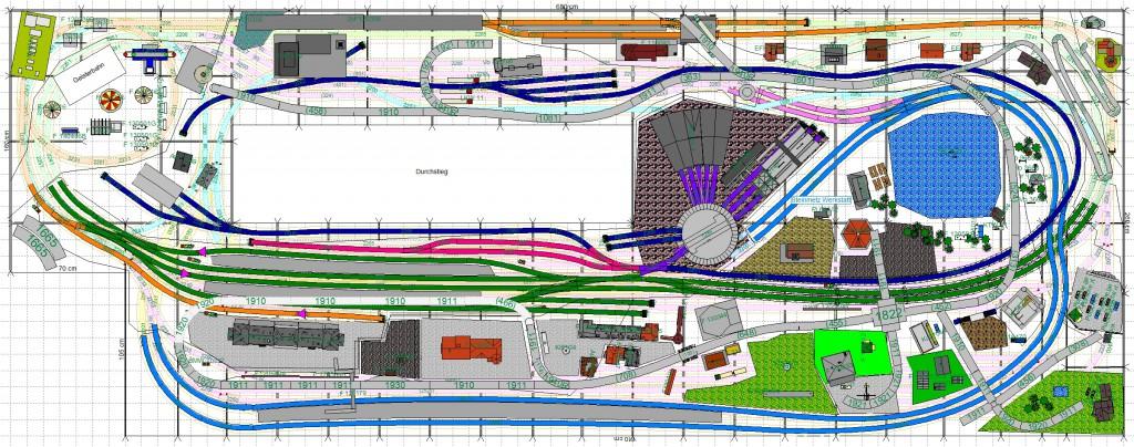 Gleisplan oben - Güterbahn v2